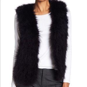 Club Monaco Jackets & Coats - Never worn genuine feather vest